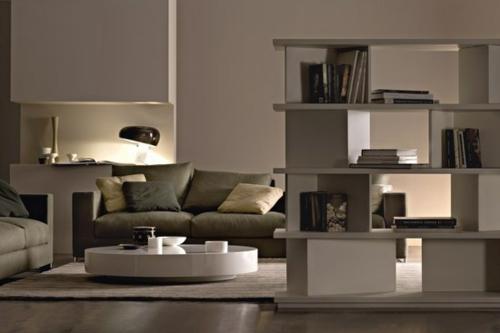 Ein sonderbares Bücher Regal wand weiß farbe nendo studio modern