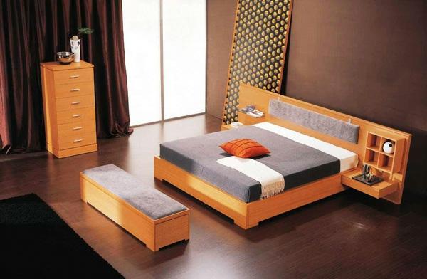 Interessante Coole Farben Beim Innendesign Holz Minimalitisch Schlafzimmer
