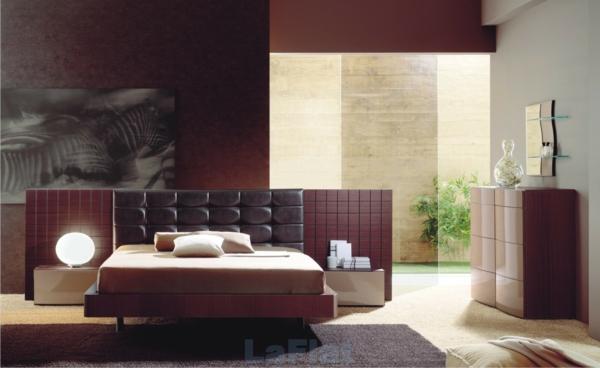 interessante coole farben beim innendesign modern schlafzimmer