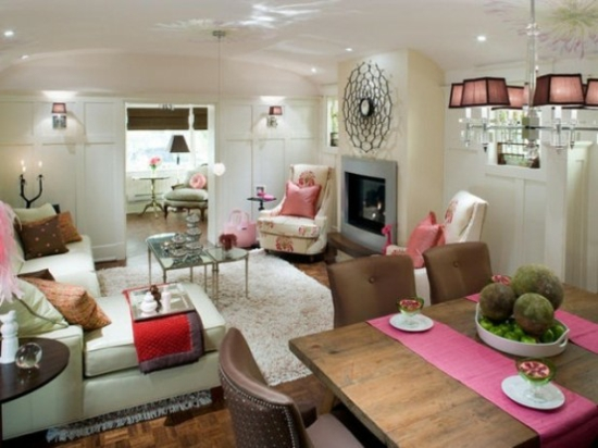 Alte Schwedische Tapeten : Interior Design Ideen ? 50 luftige feminine Wohnzimmer Designs