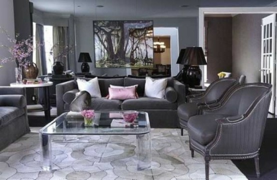 schwarz weis rosa wohnzimmer ~ inspirierende bilder von wohnzimmer, Modernes haus