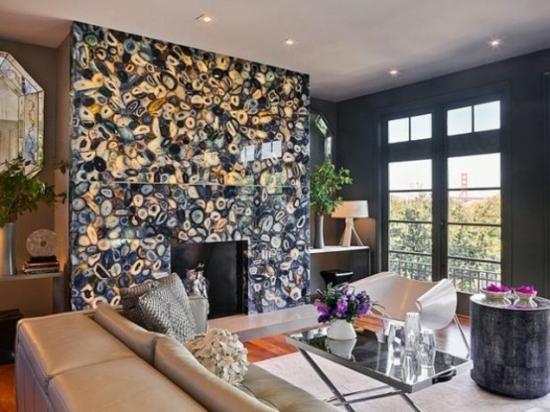 interior design ideen - 50 luftige feminine wohnzimmer designs - Wohnzimmer Design Mit Kamin