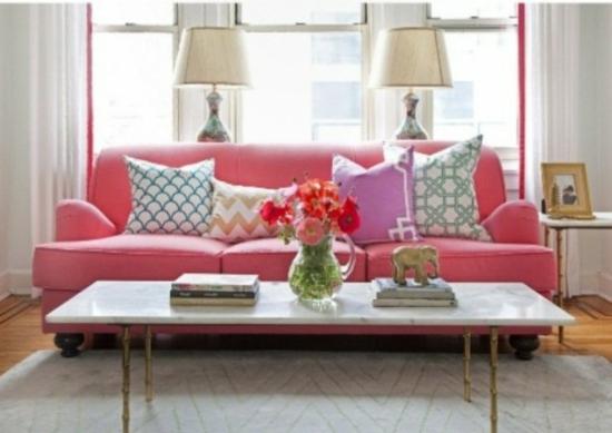 Home Design Ideeen : Interior design ideen luftige feminine wohnzimmer designs