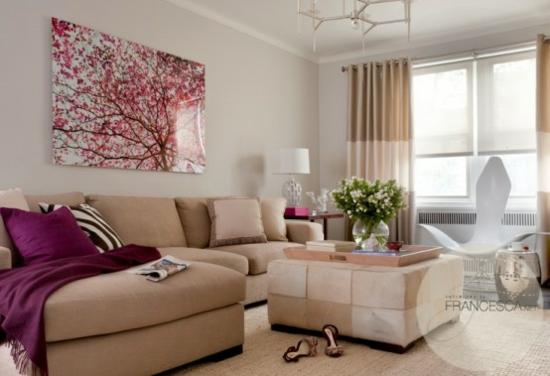 Farben Für Wohnzimmer ? 55 Tolle Ideen Für Farbgestaltung. Ideal ... Wohnzimmer Braun Rosa