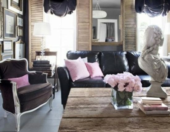 Wohnzimmerwand ideen schwarz  Emejing Wohnzimmer Schwarz Rosa Ideas - House Design Ideas ...