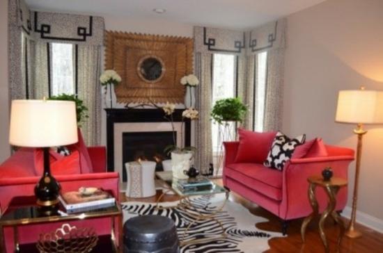 interior design home ideen femenin wohnzimmer teppich zebra