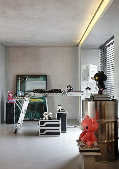 Büro design ideen  23 Interior Design Ideen für Männer - männlicher Charakter und Stil