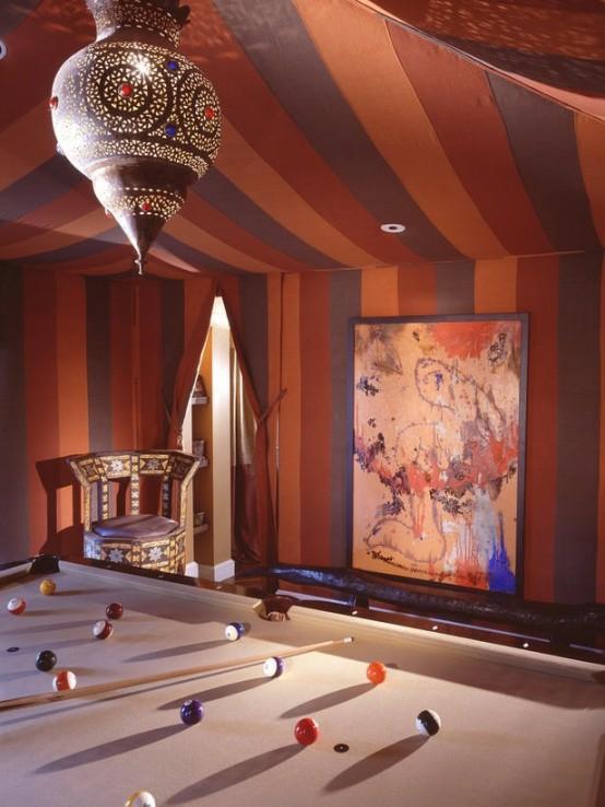 interior design ideen spielraum einrichten billardtisch weiß