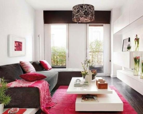 Wohnzimmer Grau Lila