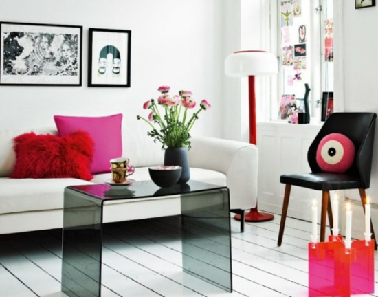 Interior design ideen 50 luftige feminine wohnzimmer designs - Interior design ideen ...