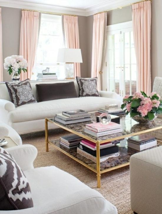 design : vorhänge wohnzimmer blau ~ inspirierende bilder von ... - Wohnzimmer Ideen Vorhange