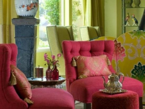 interior design ideen weiblich wohnzimmer pastelfarben gelb pink