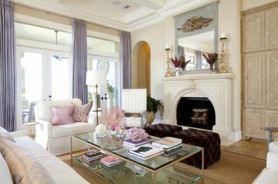 Superb Interior Design Ideen Weiblich Wohnzimmer Pastelfarben Hell Kamin
