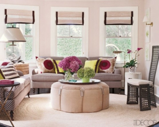 interior design ideen weiblich wohnzimmer pastelfarben hell rosa