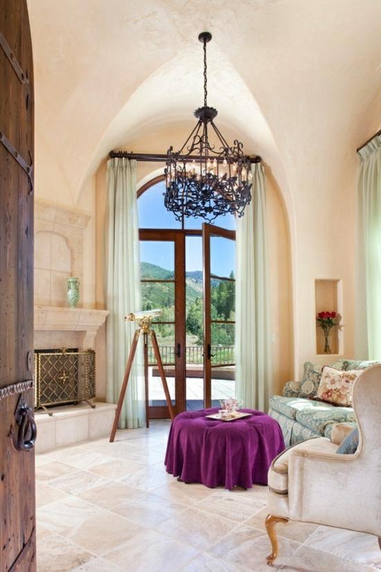 interior design ideen weiblich wohnzimmer pastelfarben lila