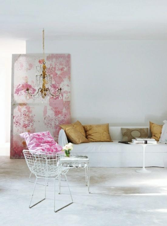 wohnzimmer pastell:interior design ideen weiblich wohnzimmer pastellfarben rosa