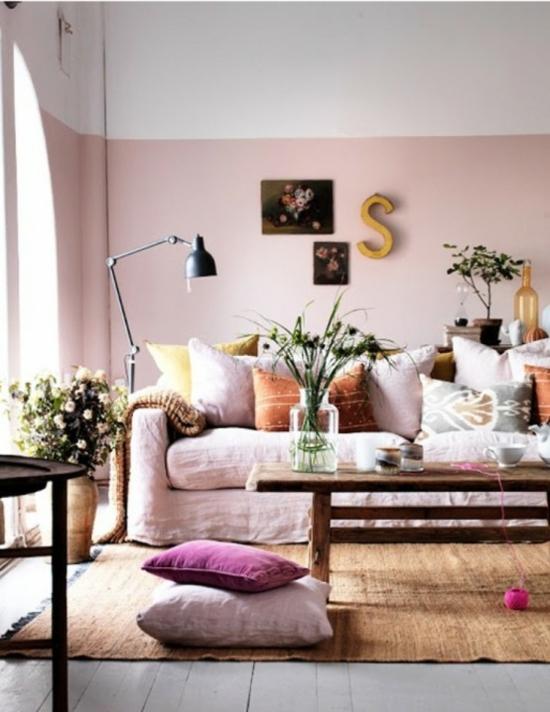 interior design ideen weiblich wohnzimmer pastelfarben