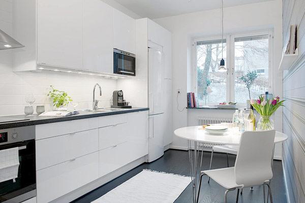 interior design - kleines apartment in schweden im trendigen stil - Apartment Küche