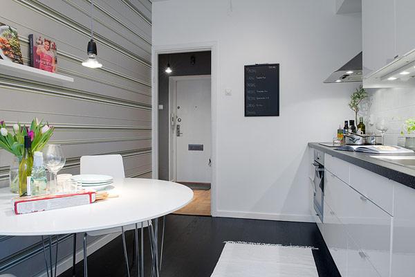 Interior design kleines apartment in schweden im trendigen stil