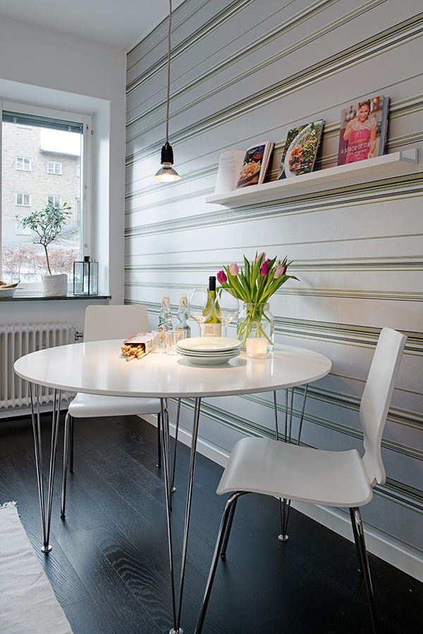 interior design wohnung apartment schweden klein essbereich