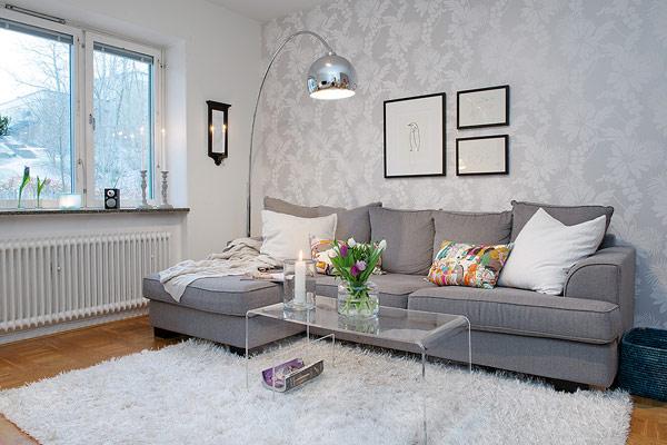 Interior design wohnzimmer  Interior Design - kleines Apartment in Schweden im trendigen Stil
