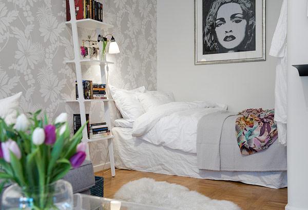 home design wohnung apartment schweden nische schlafbereich