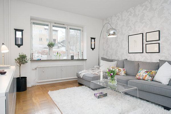 interior design - kleines apartment in schweden im trendigen stil
