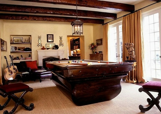 interior home design ideen spielraum dekorieren dunkelbraun holz
