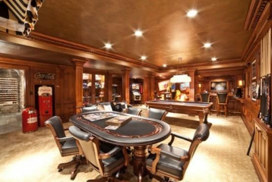 interior home design ideen spielraum dekorieren pokertisch polstersessel