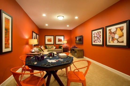 interior home design ideen spielraum dekorieren pokertisch