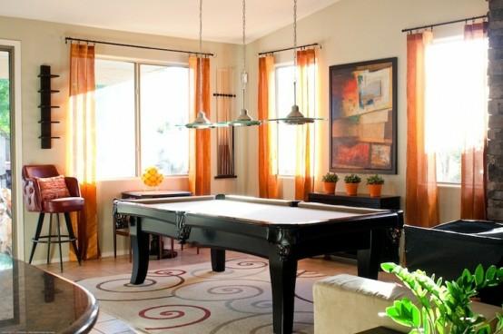 interior home design ideen spielraum dekorieren schwarz orange