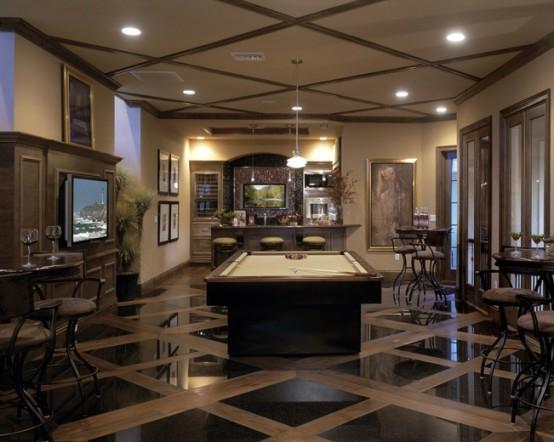interior home design ideen spielraum dekorieren schwarz weiß holz