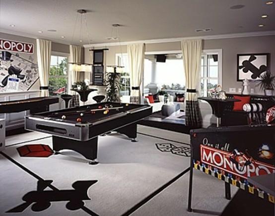 interior home design ideen spielraum dekorieren schwarz weiß