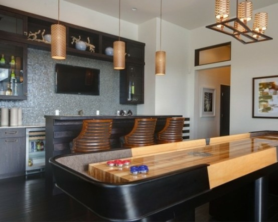 interior home design ideen spielraum einrichten billardtisch bartheke
