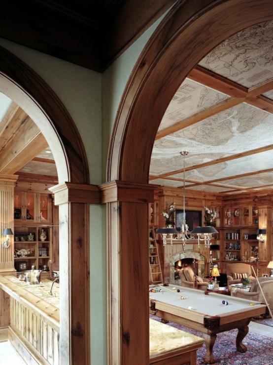 interior home design ideen spielraum einrichten billardtisch holz
