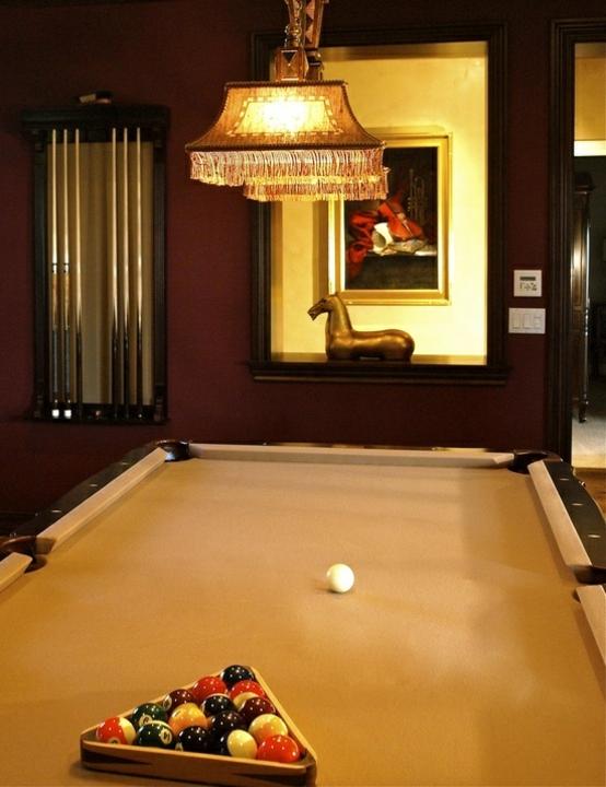 interior home design ideen spielraum einrichten billardtisch kronleuchter
