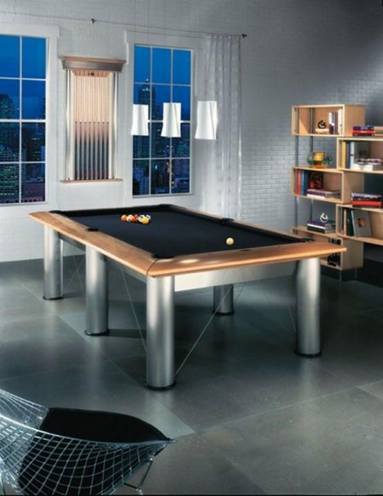 interior home design ideen spielraum einrichten billardtisch