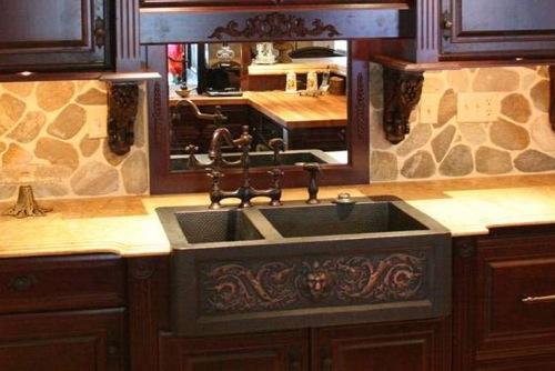 küchen spülbecken mit unterschrank klassisch massiv