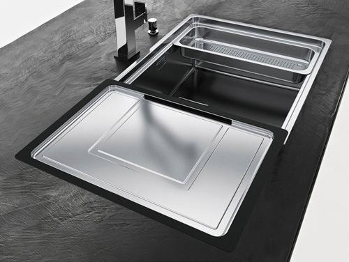 küchen waschbecken mit unterschrank verkupfert modern