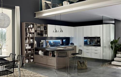 kücheneinrichtung ideen stosa maxim küche halbinsel weiß schränke