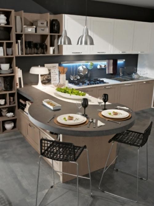 kücheneinrichtung ideen stosa maxim küche halbinsel