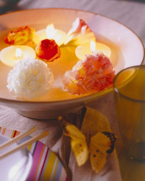 kerzen deko ideen garten draußen romantisch ambiente sommer