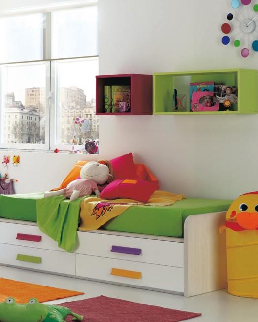 Kinderzimmer Ausstattung Möbel Kibuc Bett Puppe Farbenfroh