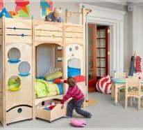 kinderzimmer gestalten coole spielbetten f r kleinkinder aus naturholz. Black Bedroom Furniture Sets. Home Design Ideas