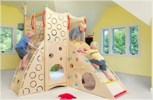 Kinderzimmer kleinkind  Kinderzimmer gestalten - coole Spielbetten für Kleinkinder aus Naturholz