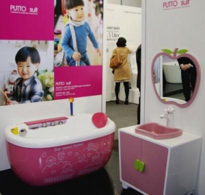 Kinderzimmer gestalten - das neue rosa Kinder Badezimmer von Interbath