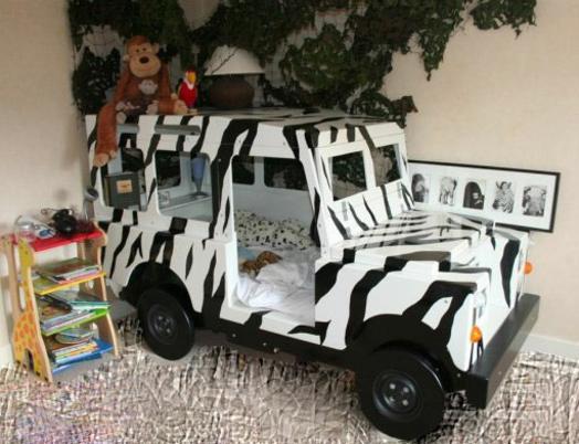Kinderzimmer gestalten safari  Kinderzimmer gestalten - 20 Kinderbetten für Jungs, wie Autos geformt