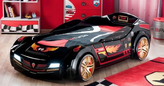 Kinderzimmer gestalten junge auto  Kinderzimmer gestalten - 20 Kinderbetten für Jungs, wie Autos geformt