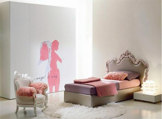kinderzimmer möbel di liddo perego mädchen schlafzimmer rosa