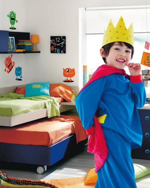 kinderzimmer möbel kibuc etagenbett farbig fröhliche stimmung